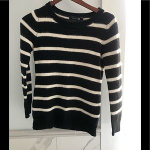 Staple item black/white striped sweater